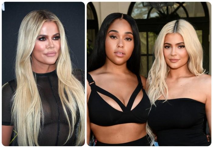 Khloe Kardashian Jordyn Woods and Kylie Jenner