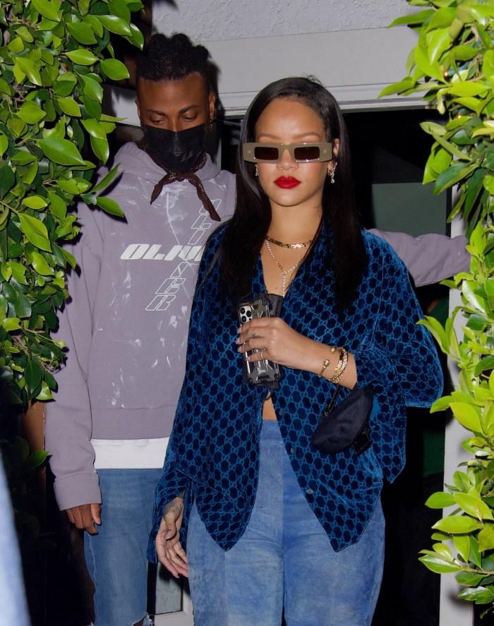 Rihanna Gucci Blue Shirt Giorgio Baldi