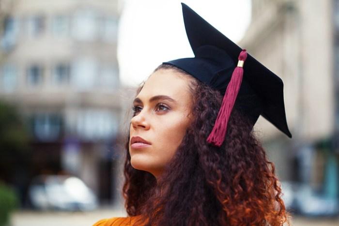 Happy graduate girl