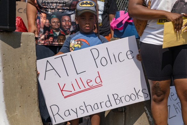 Protesters Demand Justice On Anniversary Of Rayshard Brooks' Death