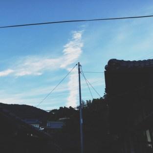 のぼる雲。