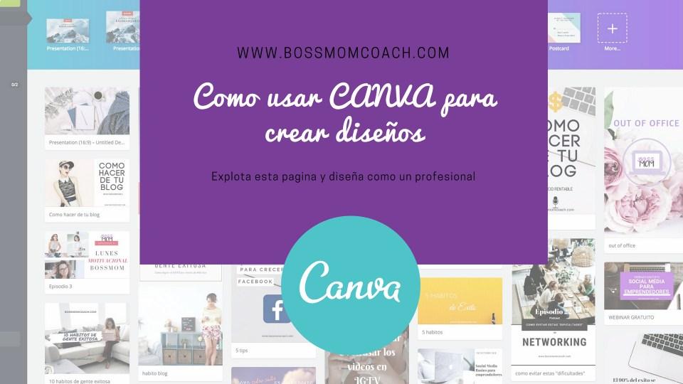 Como usar CANVA para crear diseños