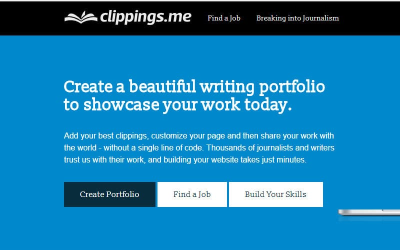 Build a Freelance Portfolio With Clippings.me