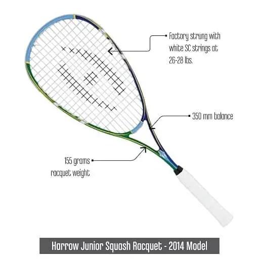 HarrowJuniorSquashRacquet2014Model