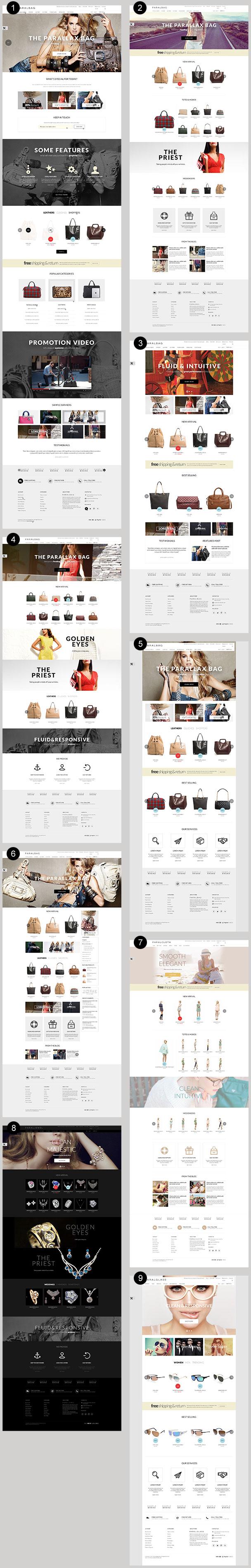 HomePage opencart fashion bag store - homepage - Opencart Fashion Bag Store — Parallax