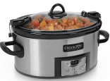 Crock-Pot 6qt Programmable Cook & Carry Slow Cooker Silver- $35.49