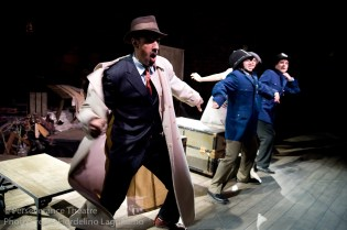 Aram Aghazarian Roblin Gray Davis, Rebecca Noon and Jed Hancock-Brainerd in Alfred Hitchcock's The 39 Steps at Perseverance Theatre 2011