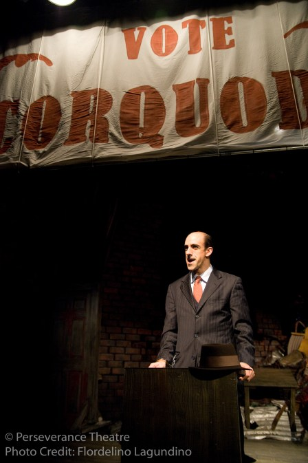 Aram Aghazarian in Alfred Hitchcock's The 39 Steps at Perseverance Theatre 2011