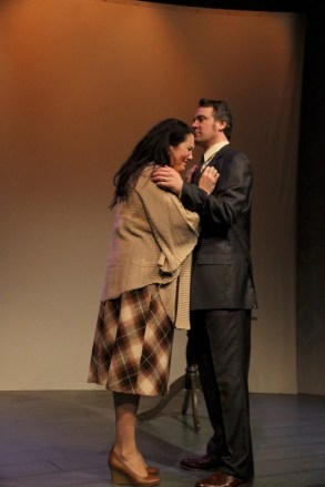 Shona Strauser and Aaron Wiseman in Betrayal