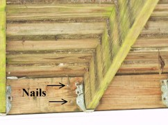 Deck Ledger with nails