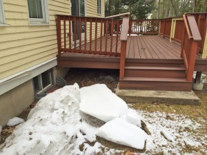 Ice damage from roof