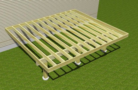 Cantilevered Deck in 3D
