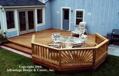 Mahogany deck in Lexington