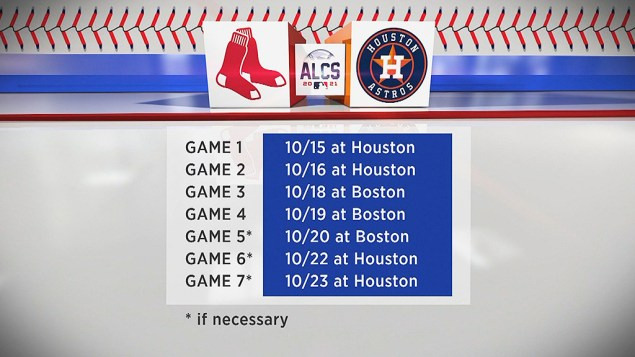 Here's The Red Sox-Astros Schedule For The ALCS – CBS Boston