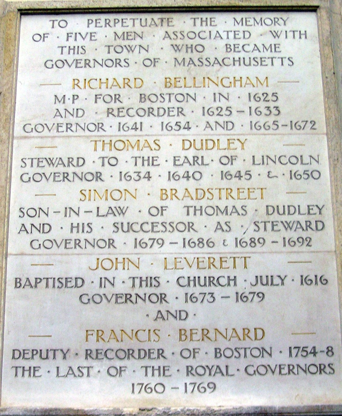 Governors Plaque