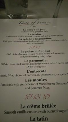Het gezicht van de Amerikanen bij de uitleg van foie gras! Heerlijk!