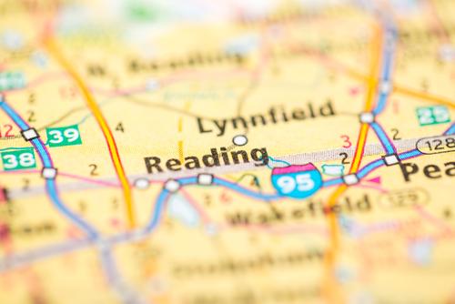 Reading, Massachusetts map
