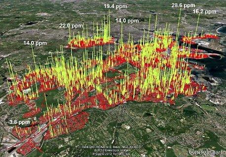 Methane leaks Boston area