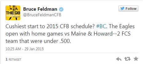 BC Eagles open season with 2 homes games vs bad FCS teams