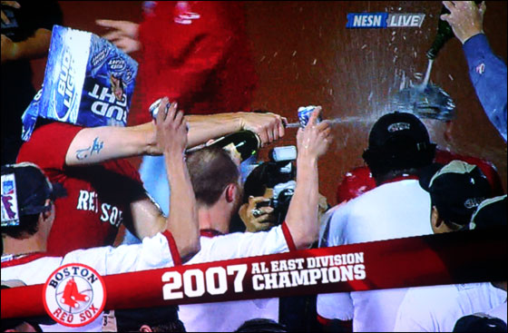Red Sox Celebrate 2007 AL East Championship