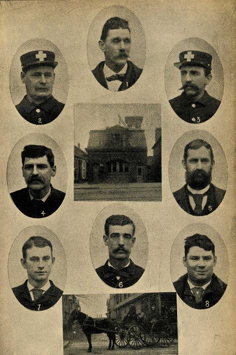 Company members of Hose Company 10 in 1887