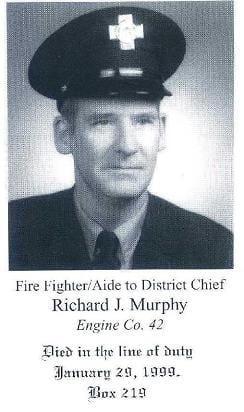 Photo of Fire Fighter Richard J. Murphy, Engine Company 42, LODD 1/29/1999