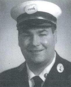 Photo of Fire Lieutenant Scott J. Malone, Ladder Company 10, in 2001.