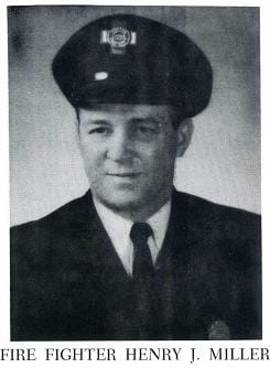 Photo of Fire Fighter Robert F. Clements, 1960.