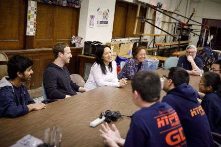 Mark Zuckerberg and his wife visit Quincy High School - The Boston ...