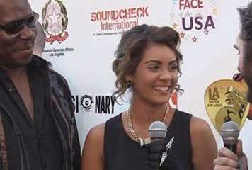 Singer Taylen with David Issacs