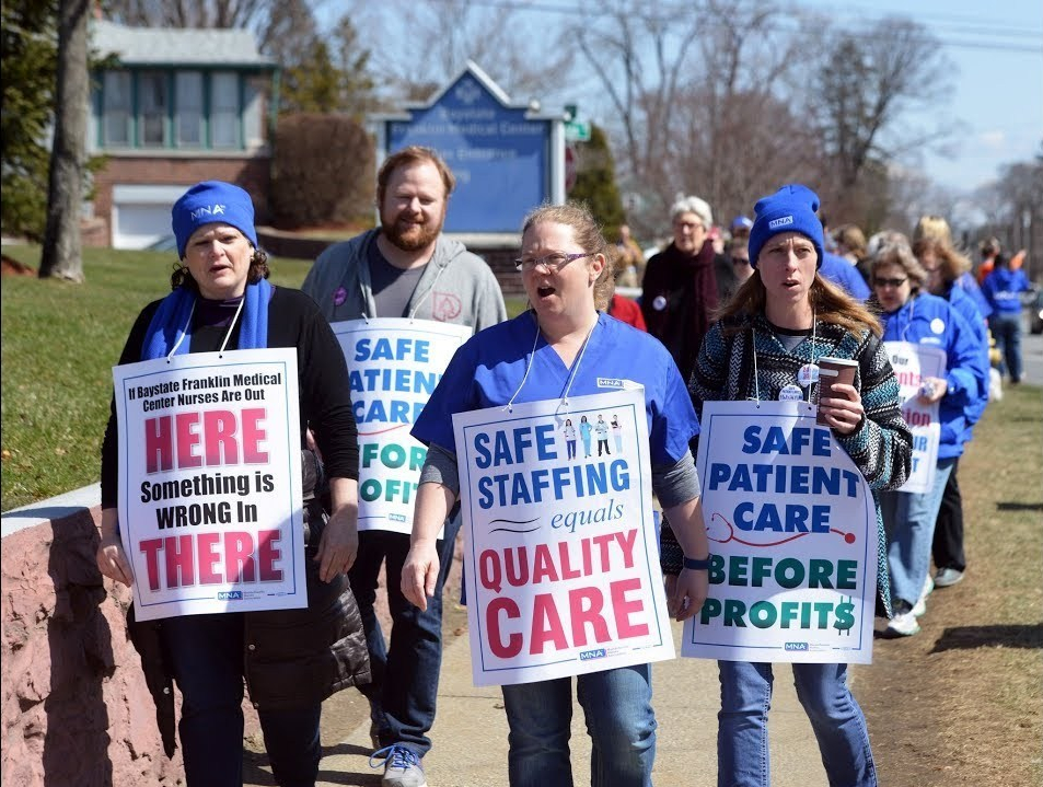 Baystate Franklin nurses mount second strike at Greenfield hospital in 2017