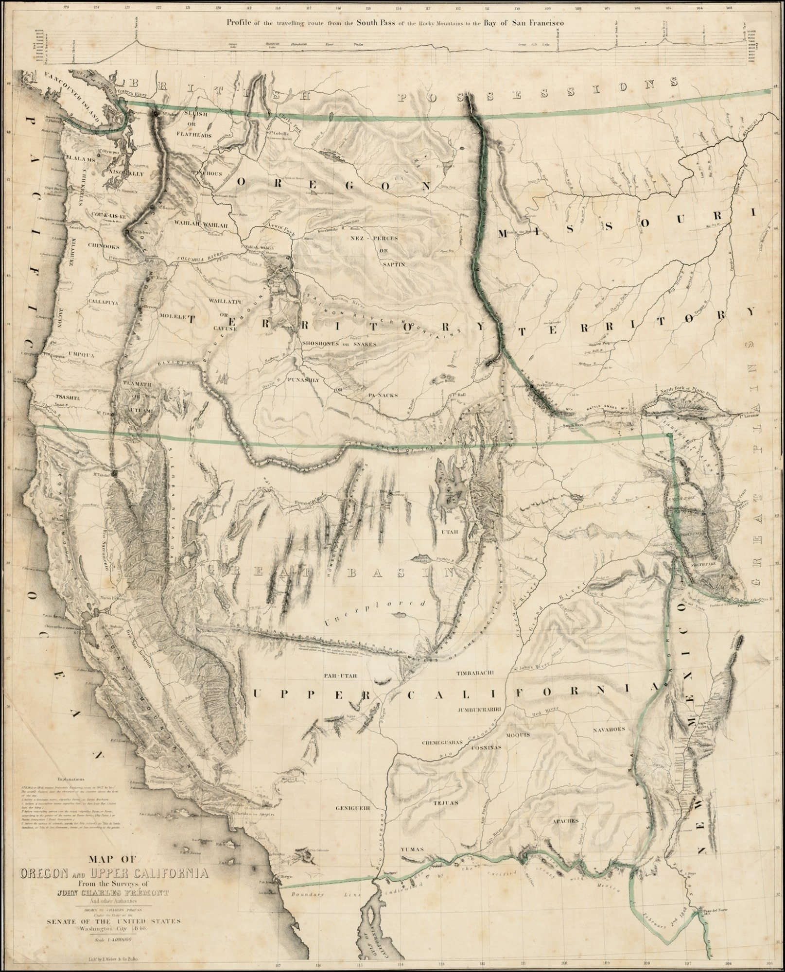 A Classic California Gold Rush Map
