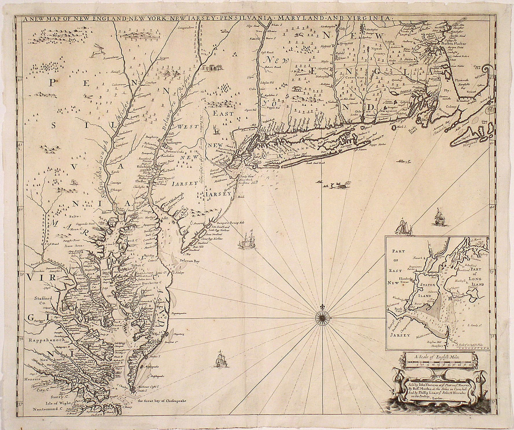 One Of The Finest 17th Century Maps Of The English Empire In America Rare Antique Maps