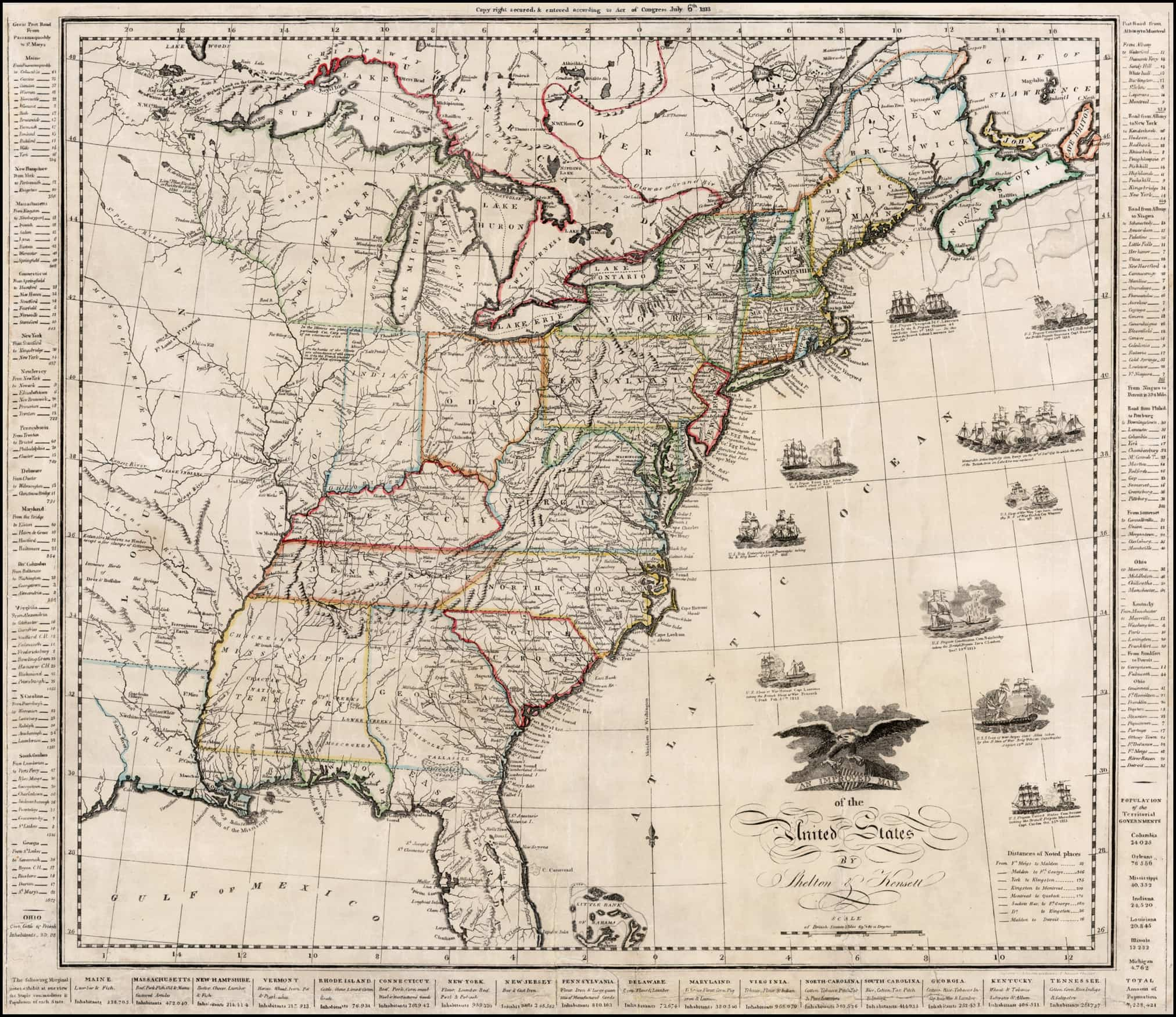A Scarce War Of Era Map Of The United States