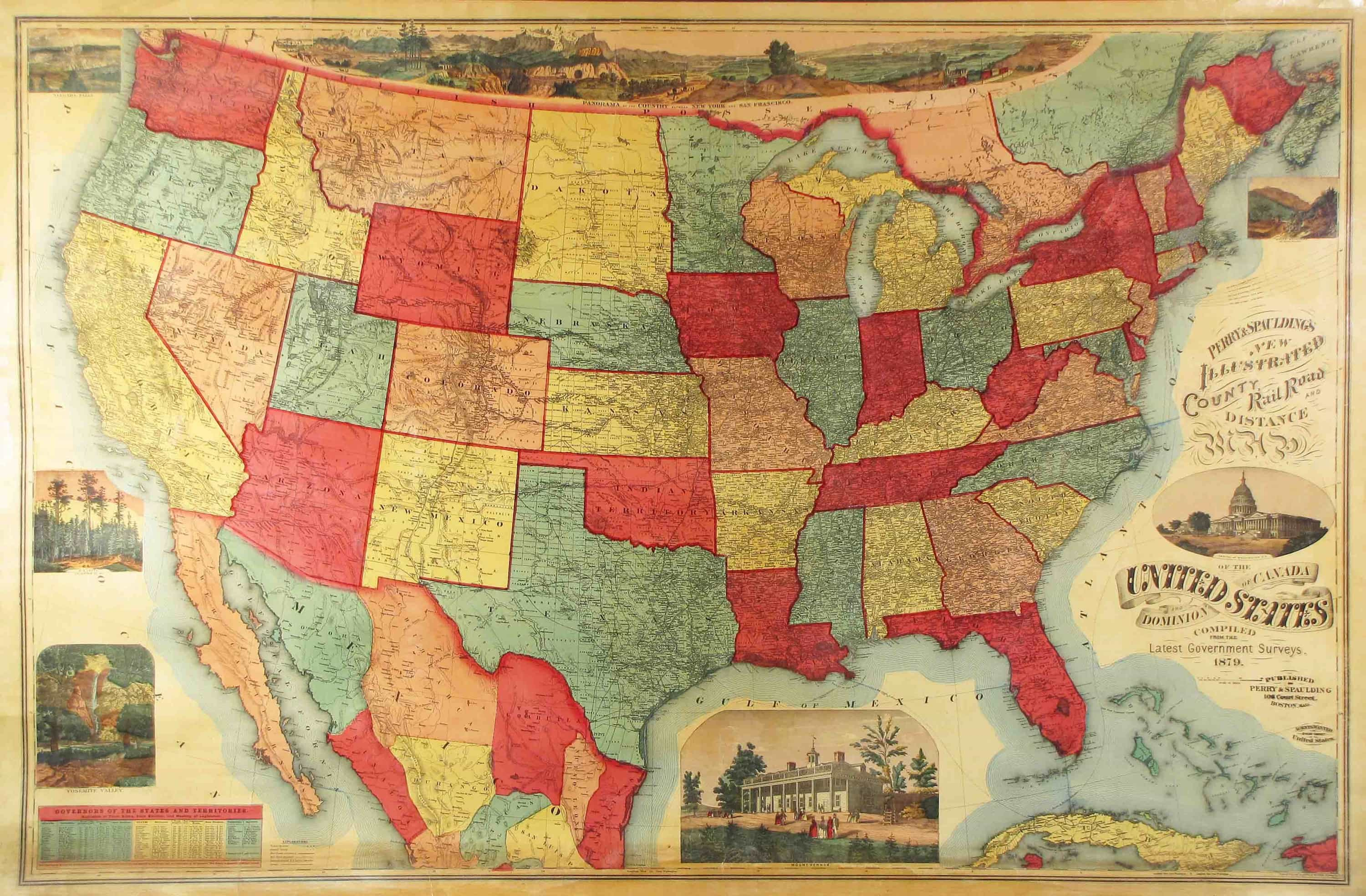 Unrecorded variant of a lovely wall map of the U S    Rare   Antique     Unrecorded variant of a lovely wall map of the U S