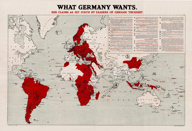 First World War Propaganda Map