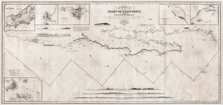 Gold Rush Era Chart Of California By James Imray