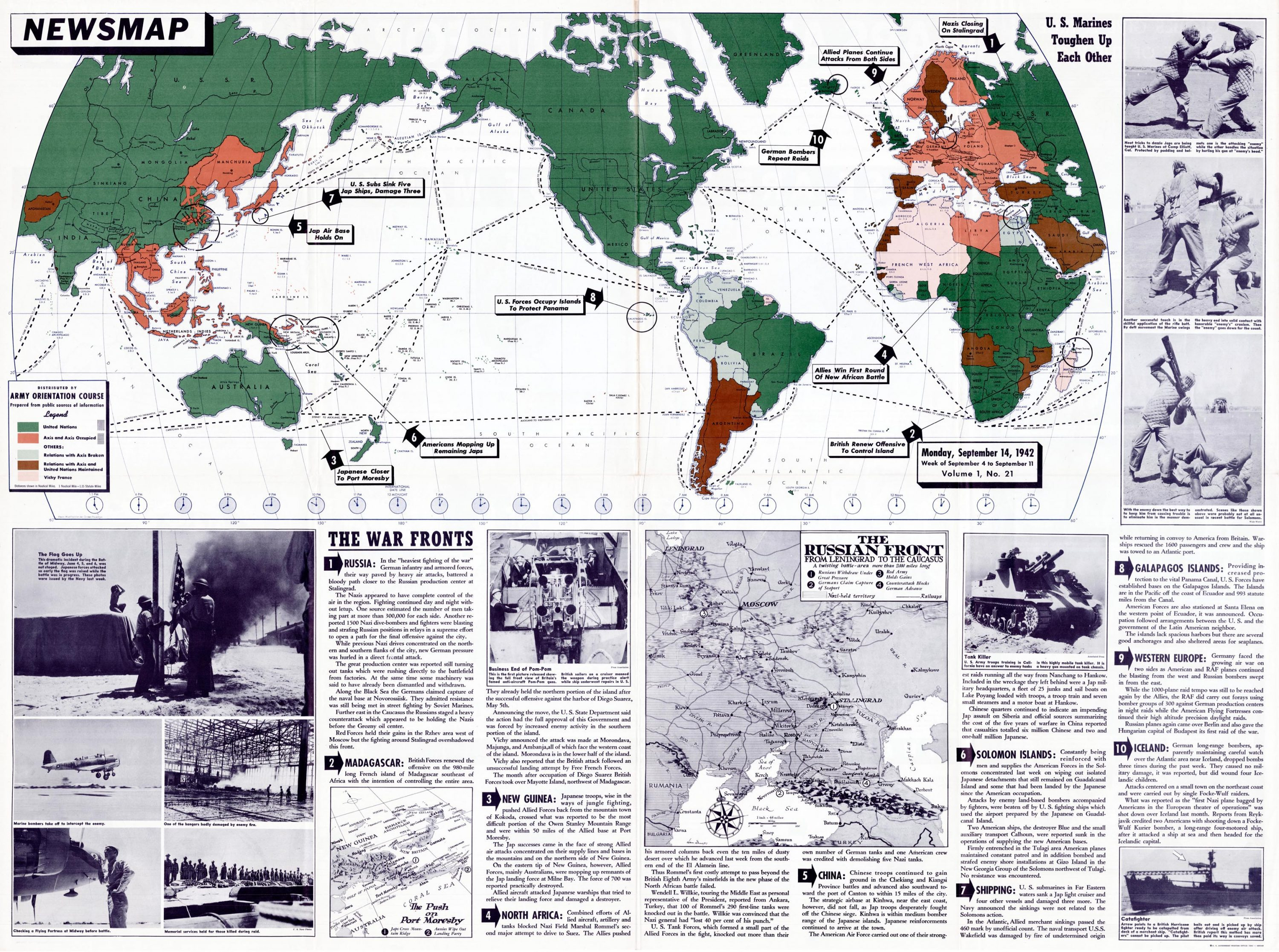 A Second World War Newsmap Commenting On The Veracity Of