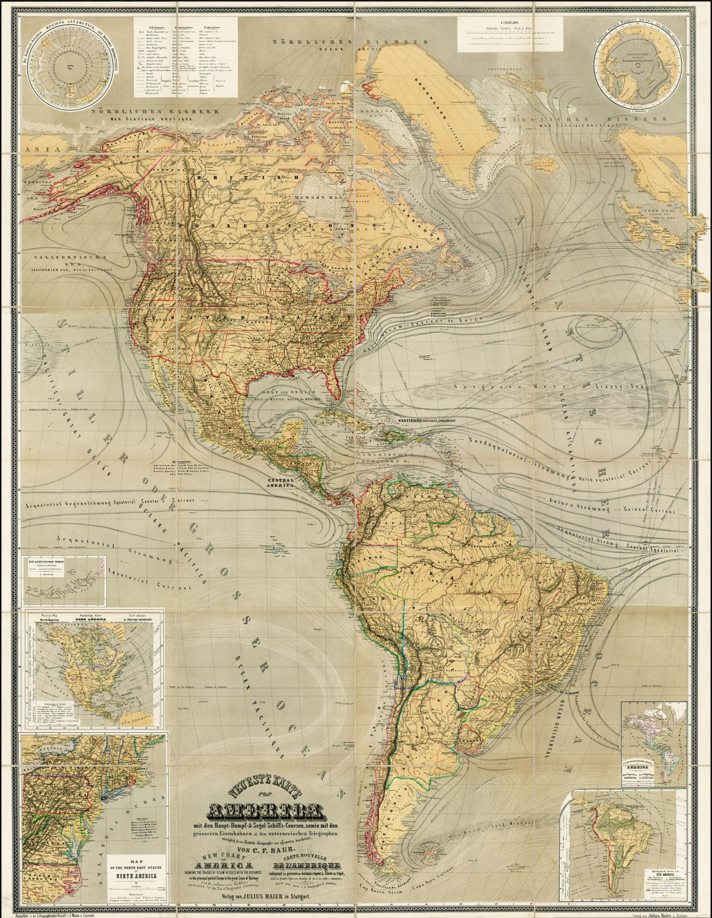 Magnificent Thematic Map Of North And South America