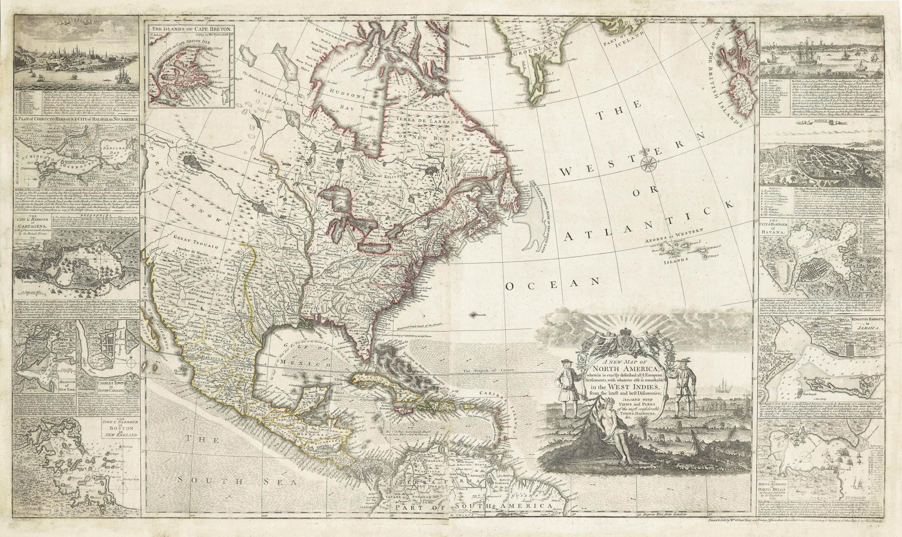 Rare And Impressive Map Of North America From The French