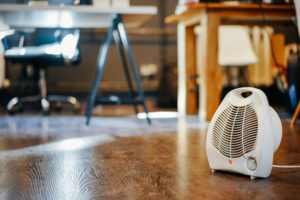 heating a home with a space heater