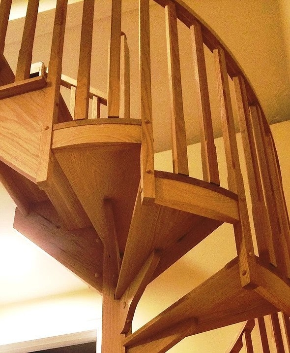Wood Spiral Stairs In Boston Boston Stair | Spiral Staircase Wood Treads | Arke | Design | Checker Plate | Platform Stair | Aluminum