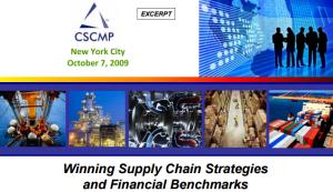 Supply Chain Strategies.