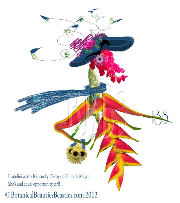 Birdelini, Derby Hat and Cino de Mayo