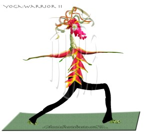 Birdelini Yoga Warrior Pose