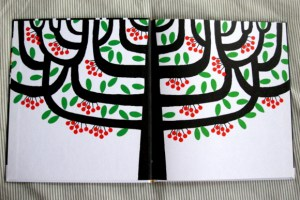 The endpapers of the book, the inspiration for the framed print