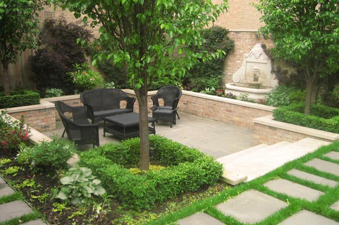 Courtyard Landscape Design Botanical Concepts Chicago