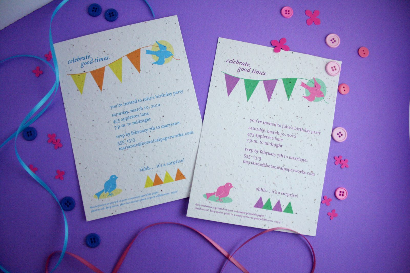 new seed paper invites to celebrate