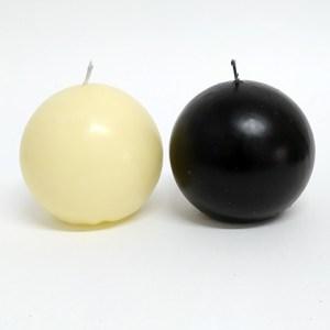 Vela formato Bola Preta 8cm – Ref. 3068