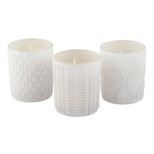 Kit c/3 Velas em Vidro Decorativo – Com 3 opções de cores e aromas
